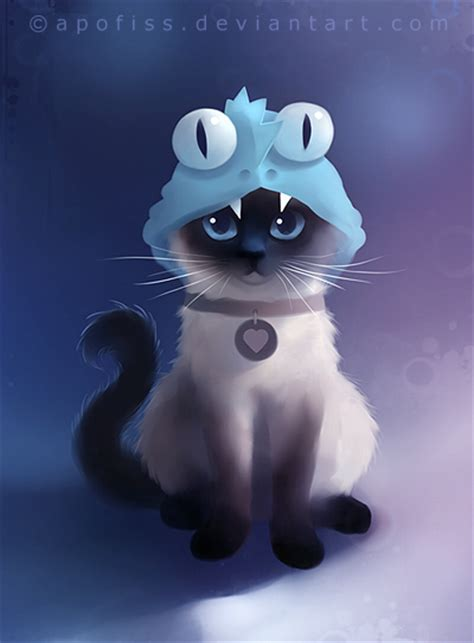 cat wallpaper deviantart siamese cat by apofiss
