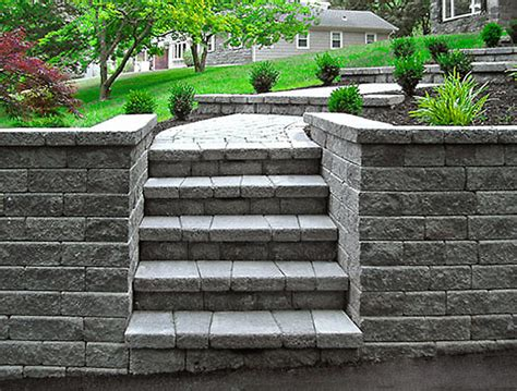 Interlocking Retaining Wall Nj Landscaping Martoccia Landscape Services Project 11