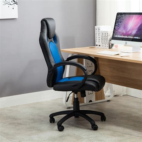Chair With Laptop Desk High Back Race Car Style Seat Office Desk Chair Gaming Computer Chair New Ebay