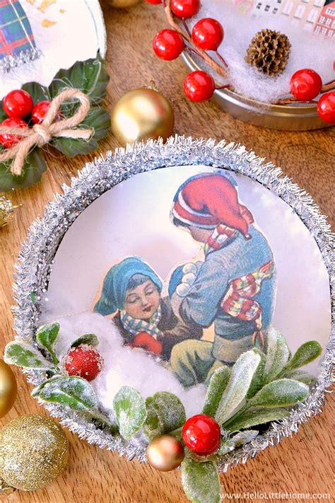 diy vintage christmas ornaments hello little home