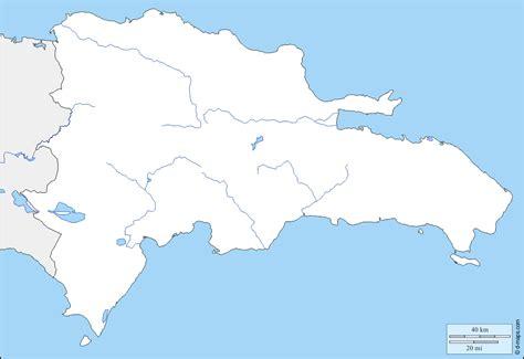 mapa de republica dominicana mapa mudo de la republica dominicana