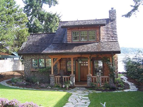 timber cottage style house
