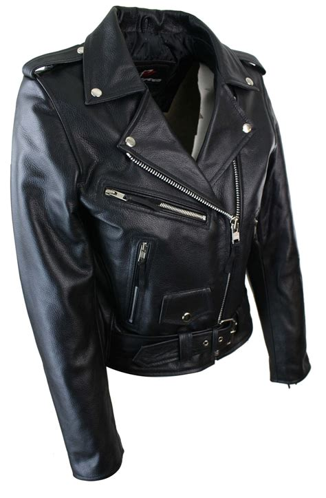 ladies leather motorcycle ladies women classic brando biker motorcycle motorbike