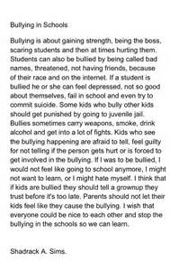 Bully Essay by 5 Paragraph Essay On Bullying