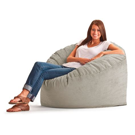 Fuf Chair by Fuf 3 Ft Wide Wale Corduroy Bean Bag Lounger Bean Bags