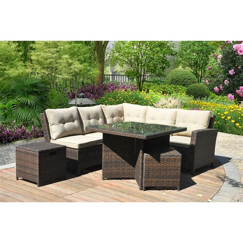 hampton  piece outdoor wicker patio furniture set