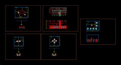 Game Room Floor Plans game room detail 2d dwg design section for autocad