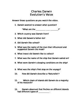 biography quiz charles darwin worksheet geersc