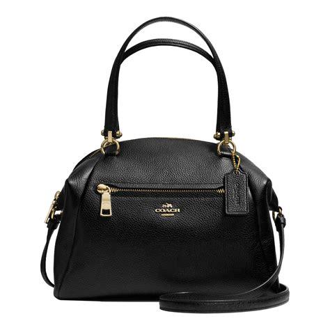 Coach Bag lyst coach prairie satchel bag in leather in black