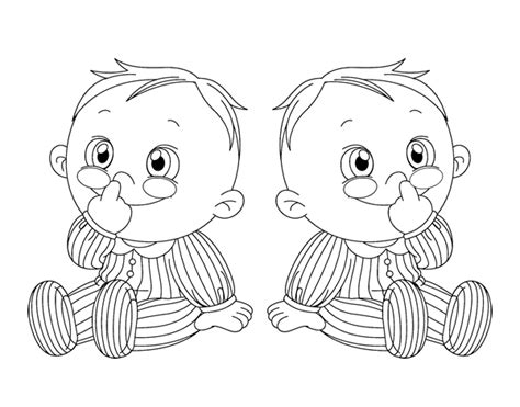 twin babies coloring page children twins coloring page coloringcrew com
