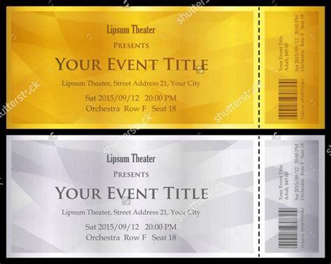 ticket voucher templates psd eps  word