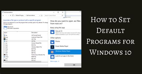 how to change default apps and settings in windows 10 how to set default apps in windows 10 autos post