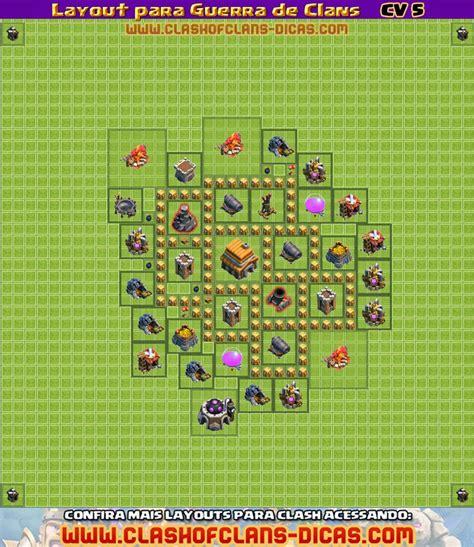 layout de guerra cv 5 o jogador layouts cv 5 para guerra