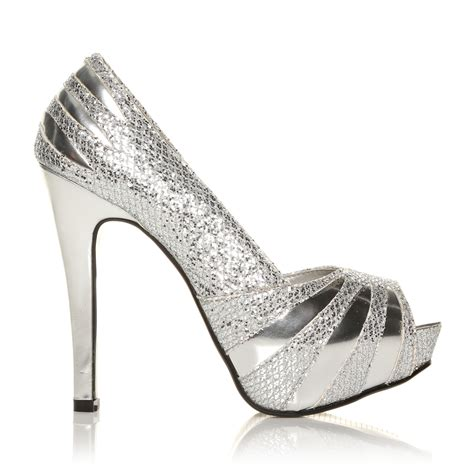 glitter sparkle prom shoes high heel