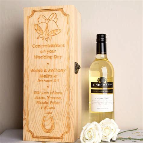 Wedding Wine Box Uk by Engraved Wedding Wine Box Forever Bespoke