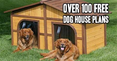 free dog house plans for two dogs over 100 free dog house plans diy stuff pinterest