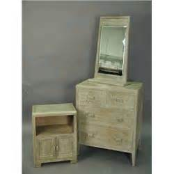 three pieces of limed oak bedroom furniture by betty joel