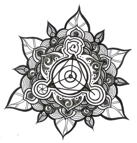 mandala tattoo png simple hummingbird coloring pages