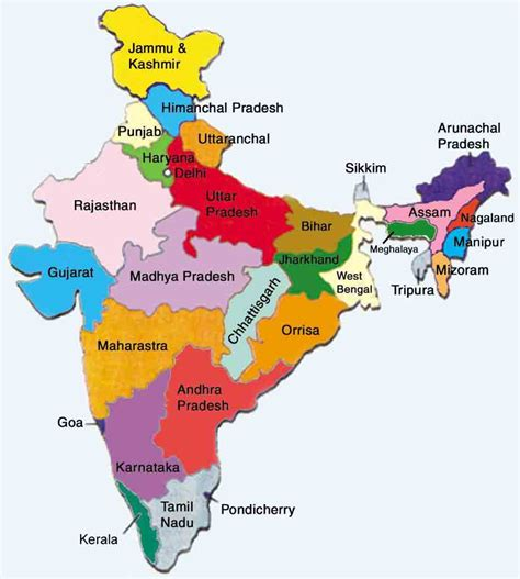 Indian States | india map junglekey in image