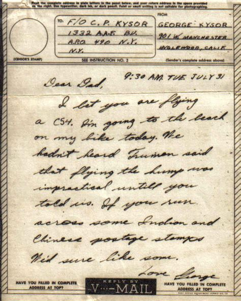 wwii letters and v mail on wwii world war ii