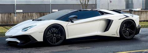 Black Lamborghini Black White Lamborghini Aventador Sv Roadster