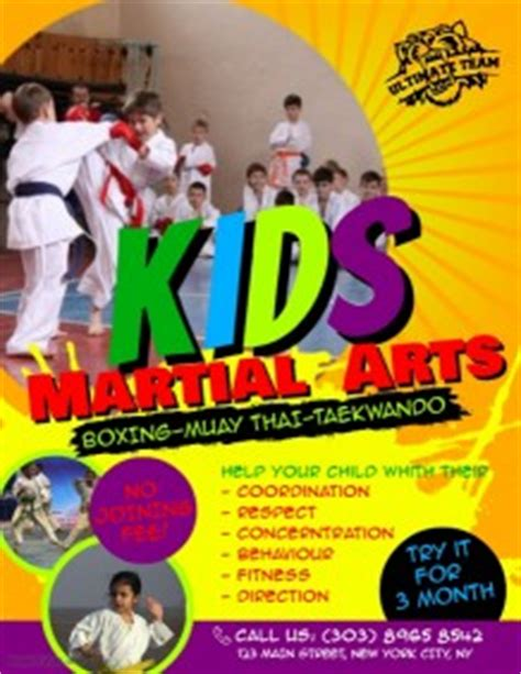 Karate Poster Templates Postermywall Martial Arts Flyer Template