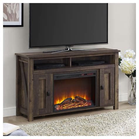 50 fireplace tv stand in heritage pine 1794096com
