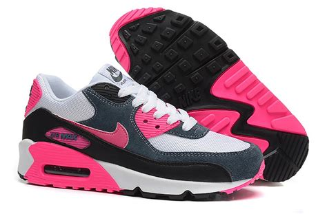 Nike Air Max 90 Whitepinkblue P 1441 by Reduced Nike Air Max 90 Essential Womens White Pink Black