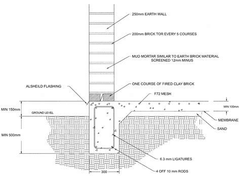 Brick Garage Construction Drawings - amcer earth brick technology construction details house
