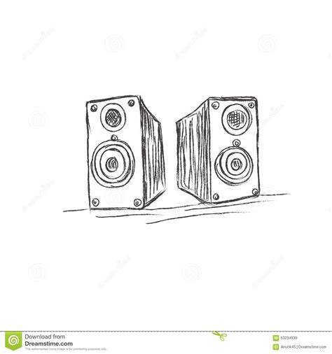 sketchbook vector speakers sketch vector illustration stock vector