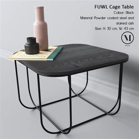 cage table fuwl cage table 3d model max obj cgtrader