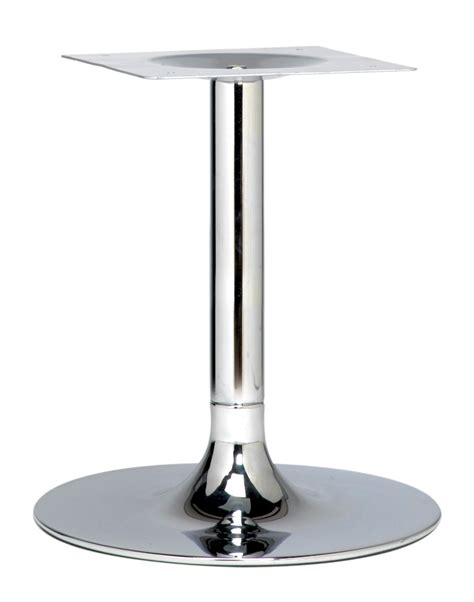 chrome cafe table base trumpet 1100mm poseur height