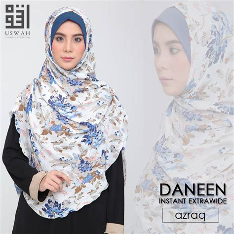Outer Jubah Luar instant shawl daneen wide saeeda collections
