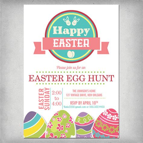 easter egg hunt template free classic easter cards on etsy printkeg
