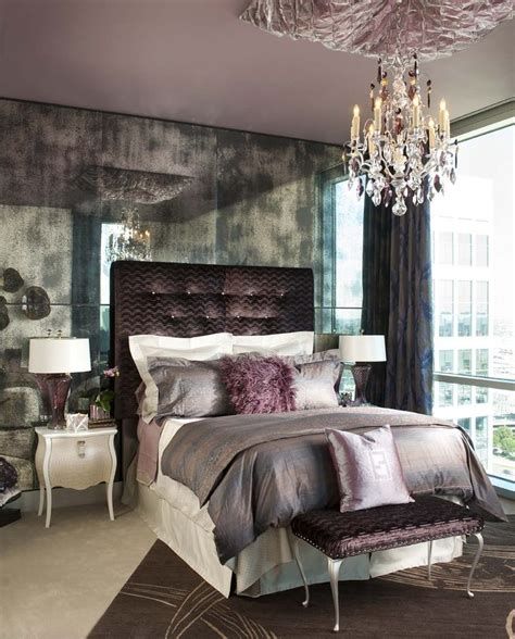 Rustic Glam Bedroom Decor by Rustic Glam Bedroom Contemporary With Purple Accent
