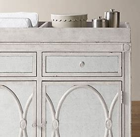 Restoration Hardware Changing Table 233 Lodie Wide Cabinet Topper