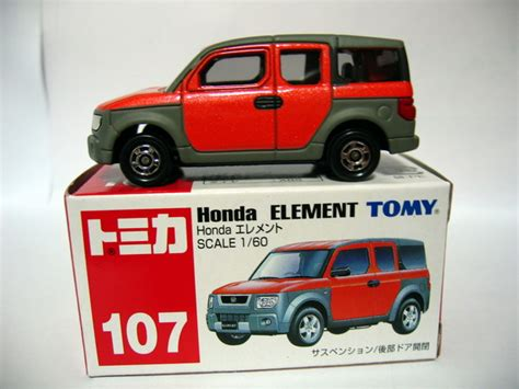 Tomica 107 Honda Element 1 60 Tomy Diecast Car Gift Orange New 1 prawnking s tomica collection トミカすごい 2月 2006