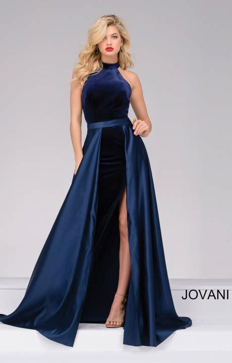 jovani  simple halter velvet dress