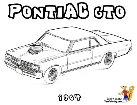 Coloring Page Muscle Cars | brawny muscle car coloring pages american muscle cars free