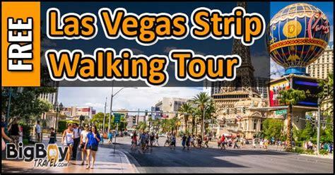 las vegas strip walking  map