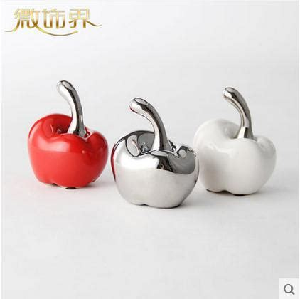 white ceramic home decor white red ceramic apple home decor crafts room decoration
