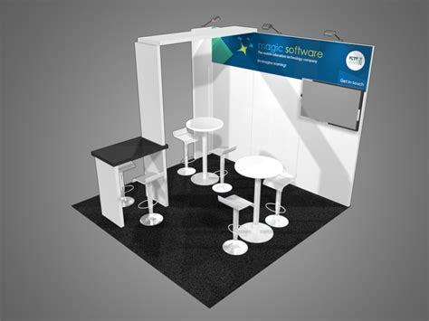 booth design free 10 x 10 inline exhibits trade show supply