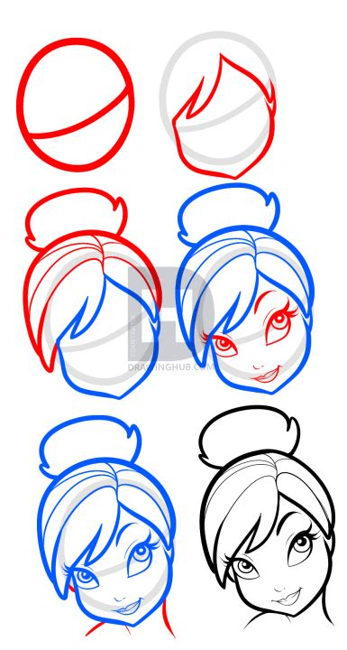 tutorial drawing online how to draw tinkerbell easy step by step disney