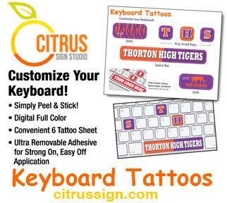 Trade Show Giveaways That Work - trade show giveaways keyboard tattoos citrus sign studio