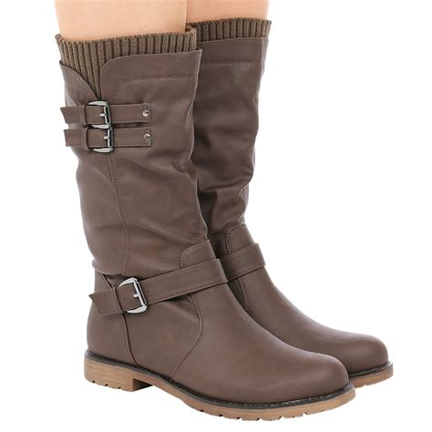 sock boots womens ebay womens low heel buckle zip up biker sock boots winter shoes size ebay