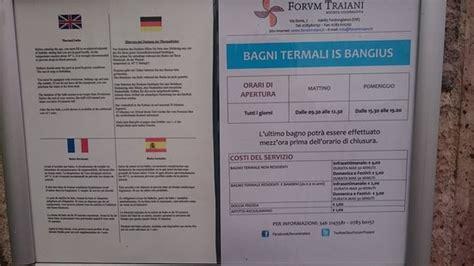 bagni termali bagni termali is bangius fordongianus italien anmeldelser