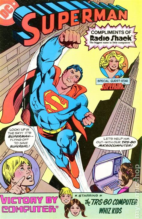 from superman to books superman radio shack giveaway 1980 comic books