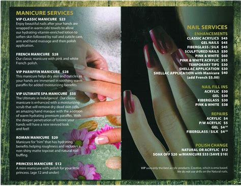Nail Salon Services by Is It Time To Tweak Your Service Menu Business Nails
