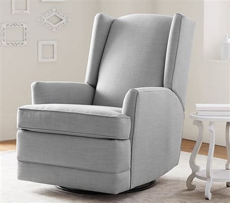 Wingback Rocker Recliner modern wingback rocker recliner pottery barn