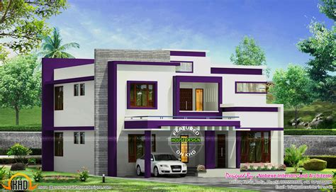 modern style home plans contemporary home design by nobexe interiors kerala home design and floor plans